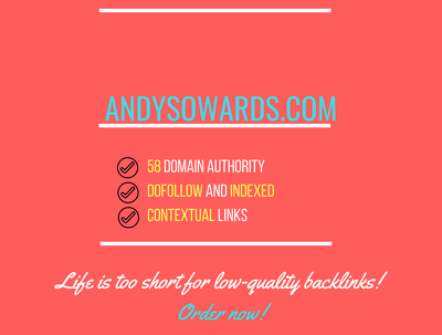 Add a guest post on  andysowards.com	, DA 58