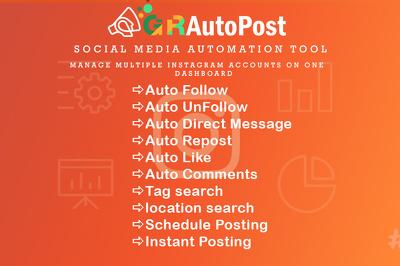 Social Profile Management Service for 2 month