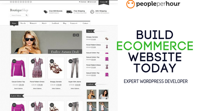 Buld E-Commerce WordPress website by woocommerce with  security