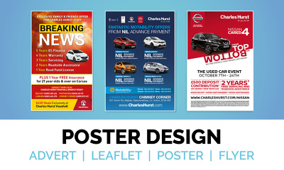 Design your double sided flyer or poster