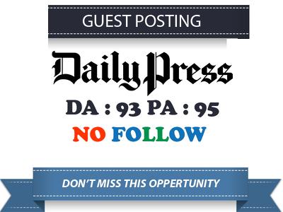 Write & Publish Guest Post On dailypress - Dailypress.com DA 76
