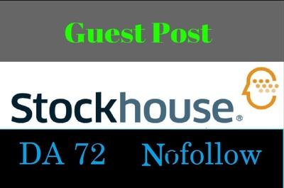 Guest Post On Finance Blog Stockhouse - Stockhouse.com DA 72