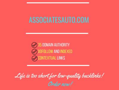 add a guest post on associatesauto.com, DA 35