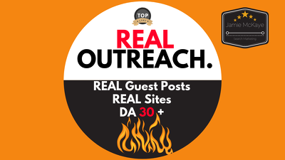 Do REAL Blogger Outreach DA 30+