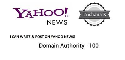 Write & Post on yahoo.com , YAHOO DA: 100 Top NEWS site for you!
