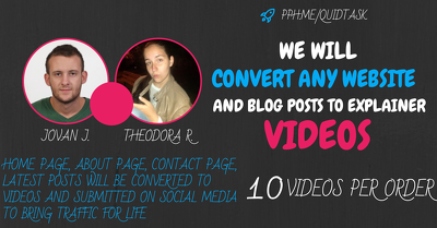 Convert Website To Videos - 10 SEO Videos For Your Pages and Pos