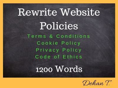 Rewrite Your website Terms & Conditions in 1 day