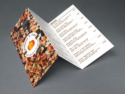 Design a sophisticated Tri-fold menu