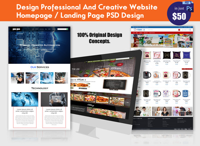 Design Professional and Creative Website Homepage