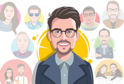 Design your awesome flat avatar within 24 hours