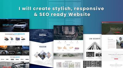 Create a stylish Website using Divi theme | Responsive + SEO