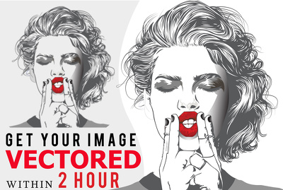 Redraw your Logo, Graphic or image into VECTOR within 2 hours