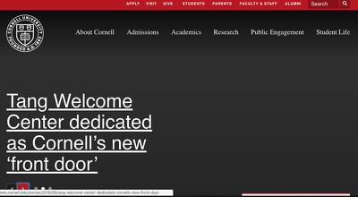 Guest post on Cornell.edu - Cornell University - DA95