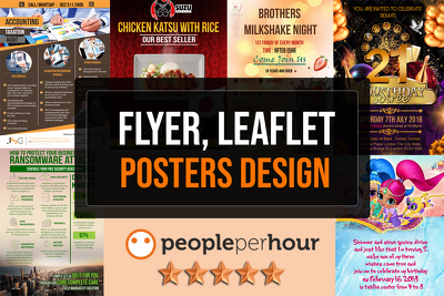 Design flyers, leaflets and brochures with unlimited revisions