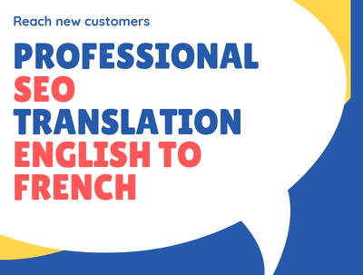SEO translation into French with Keywords research (500 words)