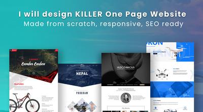 Design KILLER One Page Website | Unique design, Responsive, SEO