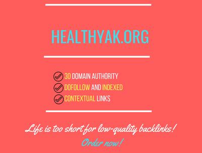 add a guest post on  healthyak.org, DA 30