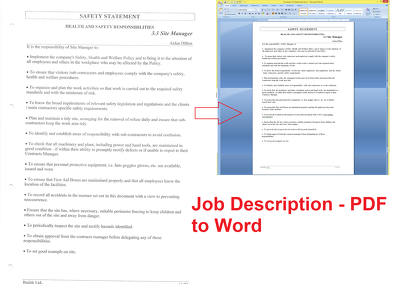 Do accurate PDF to Word conversion