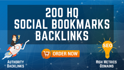 High quality Social Bookmarks Backlinks for your Website