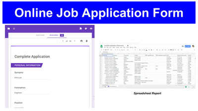Design Online Job Application Form.