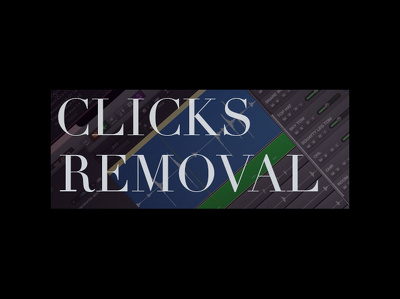 Remove clicks from audio file
