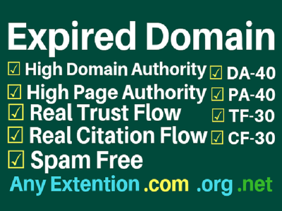 Do Expired Domain Research For PBN with good Metrics
