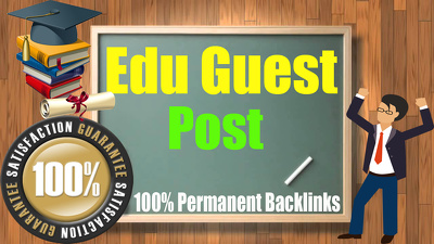 Write and publish 3 EDU guest posts DA 50+ with Dofollow links
