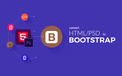 PSD To Responsive HTML5+CSS3 Web Page using Bootstrap