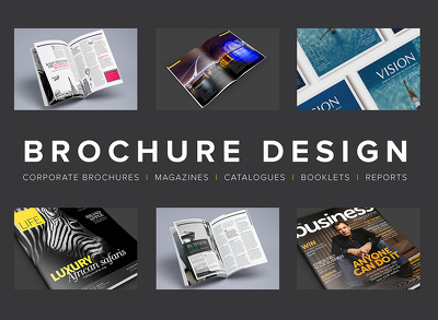 Design an 8 page corporate brochure / magazine / booklet