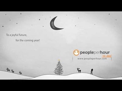 Create Christmas & New year greeting video by your logo & wishes