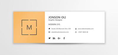 Design  2 Elegant e-mail signature In 10 Hours
