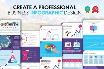 Create a Professional Business Info-graphic Model