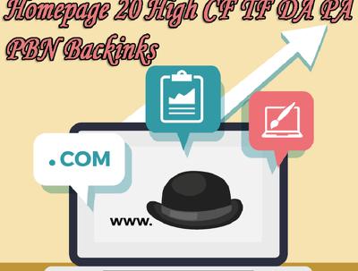 High DA PA CF TF 180 Permanent Homepage PBN Backlinks