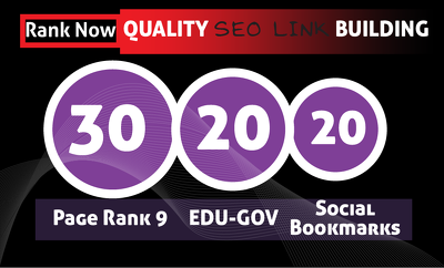 Create 30 PR9 + 20 EDU- GOV + 20 HIGH PR SOCIAL BOOKMARKS