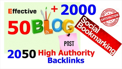 50 Effective Blog Post Backlinks and social bookmark backlinks