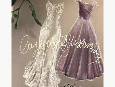Create a wedding illustration