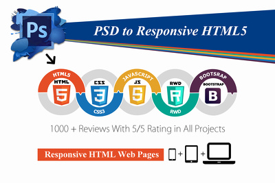 PSD To Responsive Page in Bootstrap 3.0 (HTML5+CSS3)