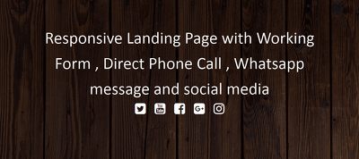 Creat Landing Page With Php Form,Direct Call And  Whatsapp