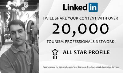 Promote Your Hotel Or Tour To 20,000+ LinkedIn Connections