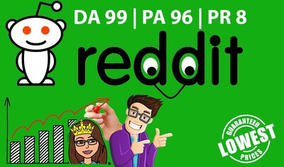Guest Post in Reddit.com DA 99 (Dofollow Link)