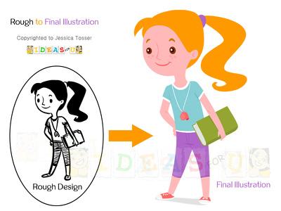 Create cartoon/illustration in flat vector style