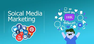 social Media Marketing, Instagram, LinkedIn, YouTube etc.