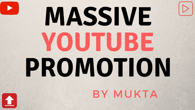 Do Youtube Promotion Around 100m People