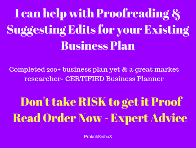 Proofread your existing Business plan