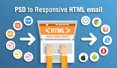 PSD To Responsive HTML5+CSS3 Web Page using Bootstrap.