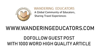 GUEST POST ON WANDERING EDUCATORS - TRAVEL WEBSITE/BLOG