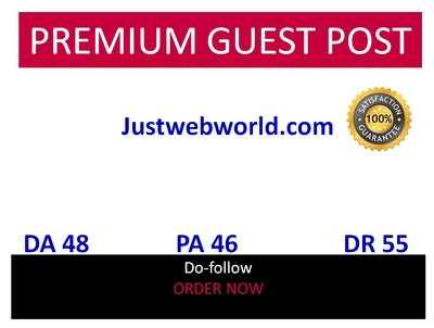 Guest post in Justwebworld Justwebworld.com DA 48 DR 55
