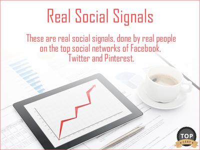 Create 2000 Real Social Signals