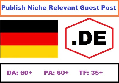 Publish German .DE Guest Post Niche Relevant Website DA: 60+