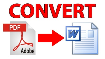 convert PDF files to MS word files
